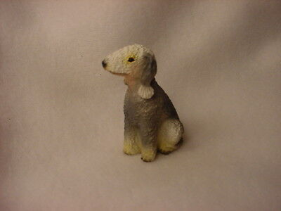BEDLINGTON TERRIER puppy TiNY FIGURINE Dog HANDPAINTED MINIATURE Mini Statue NEW