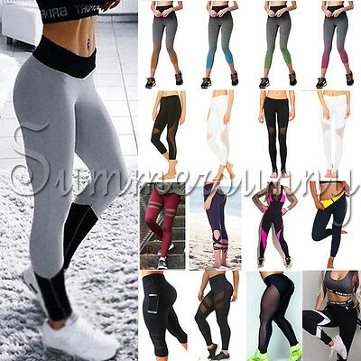 Sports Pants High Waist YOGA Gym Fitness Leggings Stretch Women Trousers US S903