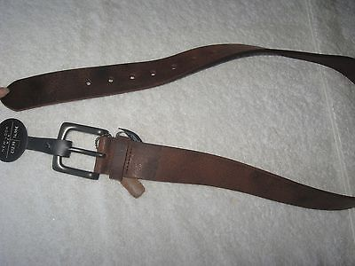 New Look XS / S BROWN BELT *BNWT* Distressed Real Leather Mens New