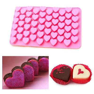 Mini Heart Silicone Pralines Mold Baking IceCube Chocolate Confectionery Truffes