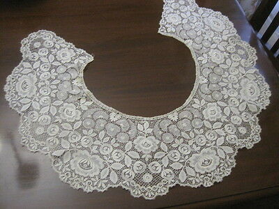 Fabulous Large Antique Delicate Schiffli Lace Collar