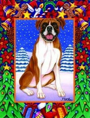 Large Indoor/Outdoor Christmas Flag - Boxer (TP) 68026