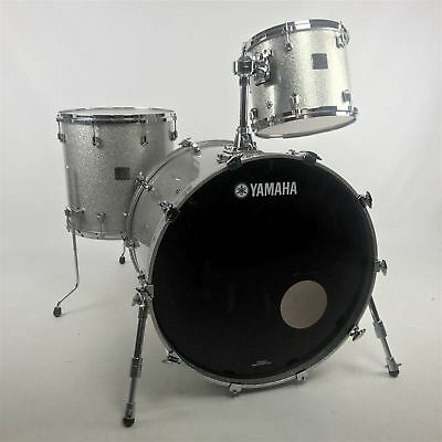 Yamaha Maple Custom Absolute 3pc Shell Pack, Silver Sparkle – Pre-owned