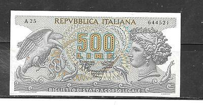 ITALY #93a 1970 VF CIRC OLD 500 LIRE BANKNOTE PAPER MONEY CURRENCY BILL NOTE