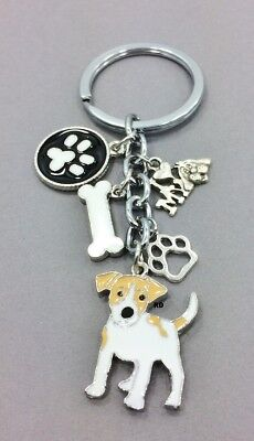 Jack Russel Terrier Dog Breed Lovers Key Chain or Purse Charm