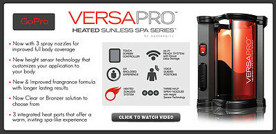 VersaPro Sunless Spray Tan Booth by VersaSpa, Get for Tanning Bed Salon, Lease