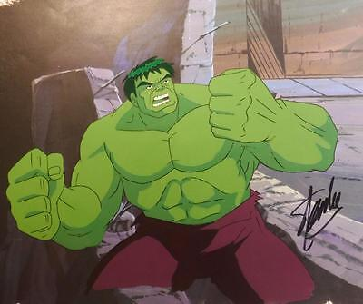 SMASH Incredible Hulk Hand Painted PRODUCTION cel signed STAN LEE h7