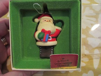 Vtg 70s 80s Hallmark Santa Ornament Tree Trimmer Collection w/ Box