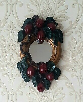 YoreVintage - Antique Victorian/Edwardian Moulded Plum Wall Mirror