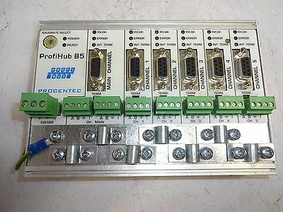 Procentec 17010 Profihub B5 5 Channel Profibus Dp Repeater