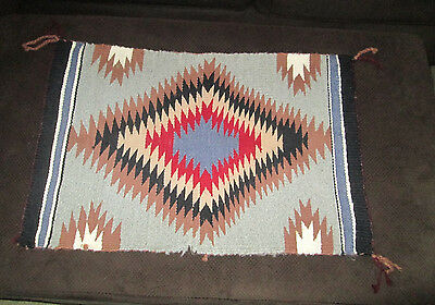 Native American Indian Blanket Navajo 25.5 x 17.5