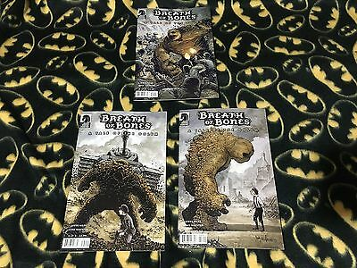 BREATH OF BONES TALE OF THE GOLEM #1 2 3 Complete Lot Set 1st Print DARK HORSE