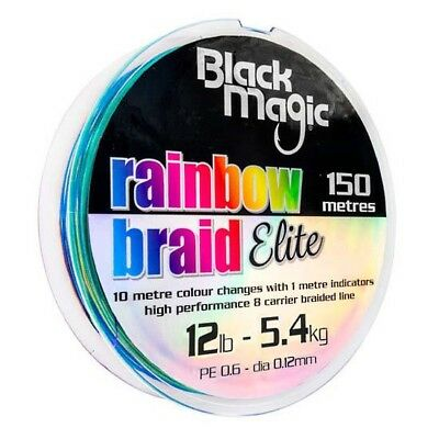 Black Magic Rainbow Braid Elite 150 Trenzados