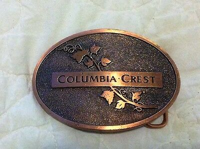 Solid Copper Belt Buckle -  Wine Advertisement