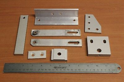 80/20 Inc T-Slot Mixed Custom Aluminum Parts Used Lot BI (8pcs)