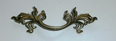 Lovely Vintage Cabinet Drawer Pull Gold and White
