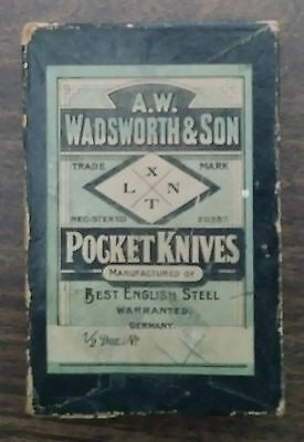 Original 1900 Era Box A W Wadsworth & Son Pocket Knives