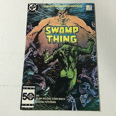 SWAMP THING #38 DC Copper Age Key Issue 2nd John Constantine Appearance 1985 d
