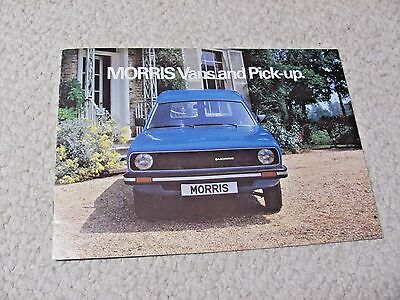 1979 Morris Pickup & Van (Uk) Sales Brochure...
