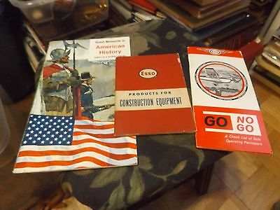 Great Moments In American History Humble Oil ++2 more ESSO COLLECTIBLES-LOT OF 3
