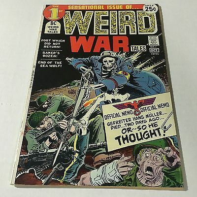 WEIRD WAR TALES #1 DC Comics Bronze Age Key Issue 1971 Joe Kubert Horror #G
