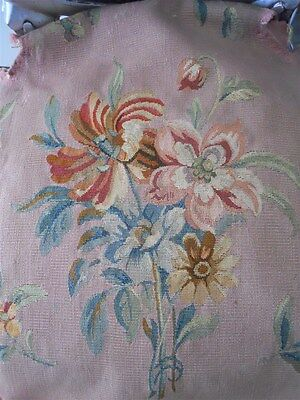Third  Aubusson  Tapestry Antique French 19Th-Cent  Chateau For Pillows