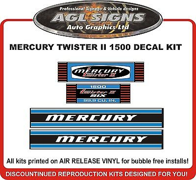 MERCURY  TWISTER II  1500  Outboard Decal 150 HP  reproductions