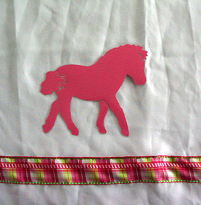 Pink Pony Horse Shower Curtain Original design..SALE