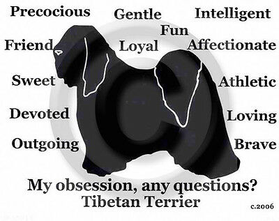 Tibetan Terrier Dog Obsession? Sweatshirt SALE Black XL one only