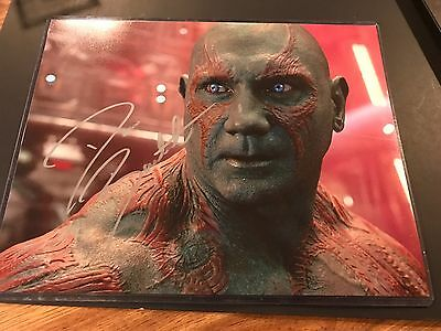 DAVE BAUTISTA SIGNED  AUTO 11x14 GUARDIANS OF THE GALAXY DRAX PHOTO BATISTA WWE