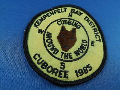 Boy Scouts Canada Kempenfelt Bay District Cuboree 1985Around The World   Patch