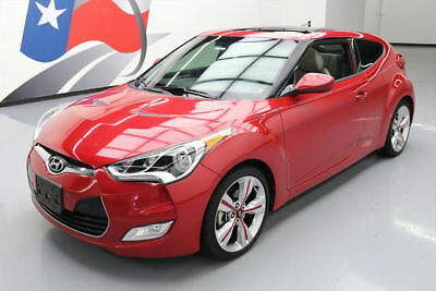 2014 Hyundai Veloster Base Hatchback 3-Door 2014 HYUNDAI VELOSTER STYLE TECH PANO SUNROOF NAV 43K #190887 Texas Direct Auto