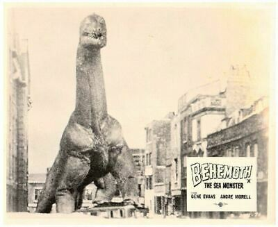 BEHOMETH THE GIANT SEA MONSTER Original Lobby Card Sci Fi dinosaur in London