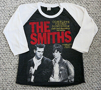 "THE SMITHS Morrissey Johnny Marr ""COMPLETE SONGBOOK"" Womens 3/4 Sleeve T-Shirt M"