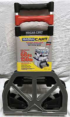 New Magna Cart Folding Hand Truck Lightweight 150 lb Capacity Black/Red Dolly