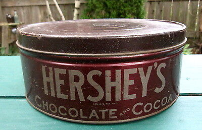 Old Original Vintage Hershey's Chocolate Cocoa Tin - 12-1/4 x 5 inches