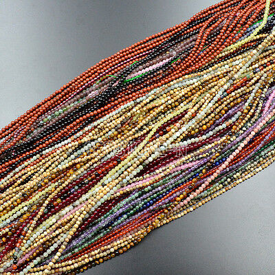 Natural Gemstones Round Spacer Seed Beads 15.5'' Jewelry Crafts 2mm 3mm 4mm