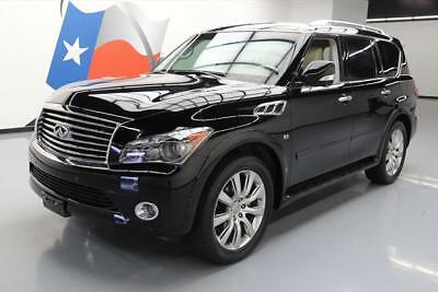 2014 Infiniti QX80  2014 INFINITI QX80 AWD THEATER SUNROOF NAV DVD 22'S 26K #069261 Texas Direct