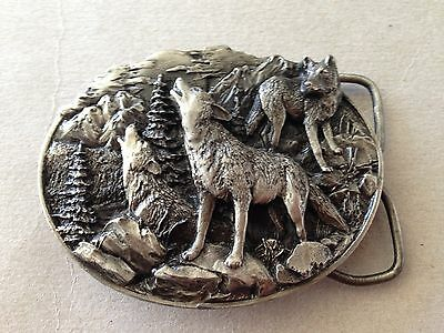 Vintage 1981 Bergamot Brass Works BD4 - WOLF Belt Buckle Limited VG++ Condition
