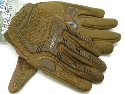 MECHANIX WEAR Size Medium M Coyote Tan M-PACT Tactical Gloves New! MPT-72-009