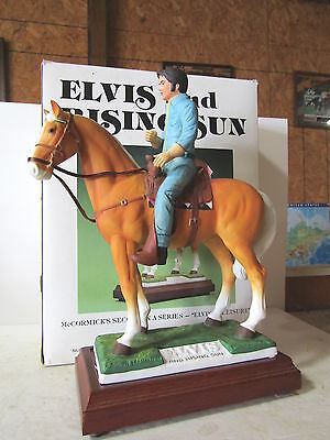 McCormick Elvis Presley On Rising Sun Decanter With Musical Wooden base