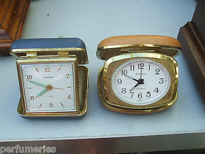 Two Traveling Alarm Clocks   Gwo ( Have Been Serviced )  6Mths Warranty