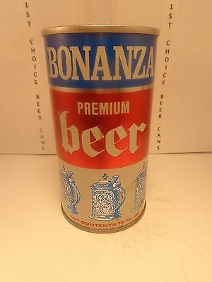 BONANZA STRAIGHT STEEL PULL TAB 12oz BEER CAN #44-35  GARDEN STATE NEW JERSEY