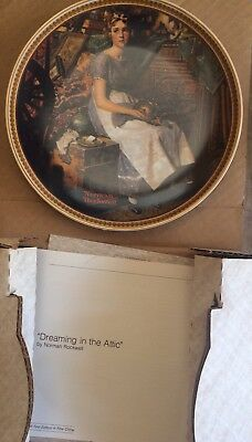 Norman Rockwell Collection Dreaming In The Attic Plate - Vintage - Mint
