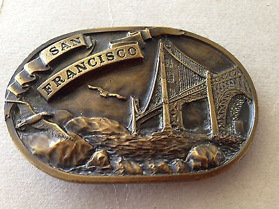 Vintage 1978 Bergamot Brass Works Q25 SAN FRANCISCO Belt Buckle Limited VG+ Cond