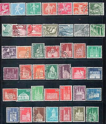 SWITZERLAND - Mixed lot of 42 Stamps, most Good Used - Mint Hinged