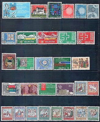 SWITZERLAND - Mixed lot of 30 Stamps, most Good - Fine Used, LH