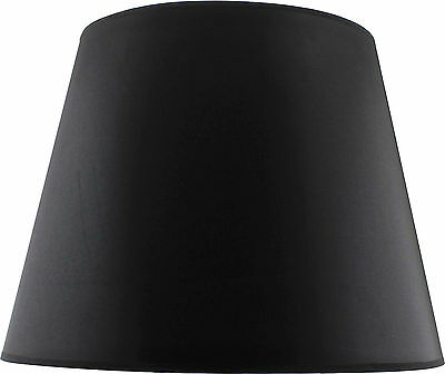 Black Fabric Tapered Shade Large (Width 48cm x Height 36cm)