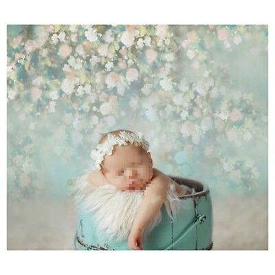 5X7FT Flower Wall Photo Backdrop Baby Newborn Photography Background Studio Prop