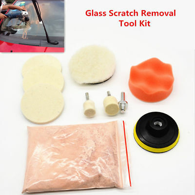 10Pcs Glass Polishing Scratch Removal Cerium Oxide Car 3'' Wheel Wool Tool Kit